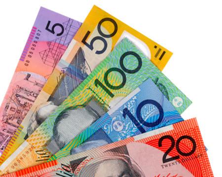australian dollares bills